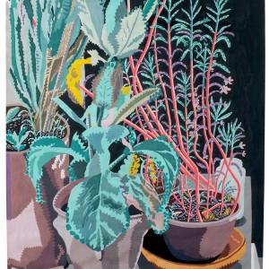 Krisisplanten (2015) | 70 x 100 cm | Gouache op papier | Origineel | Johan Kleinjan | Gallery Untitled