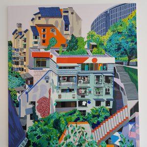 KM 00 | Origineel | Acryl- en olieverf, oilstick | 220 x 220 cm | Johan Kleinjan | Gallery Untitled