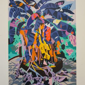 Achtertuin | Origineel | Acryl- en olieverf | 100 x 150 cm | Johan Kleinjan | Gallery Untitled