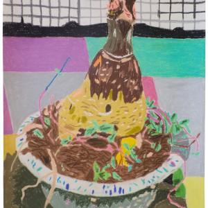 Zonder titel (2015) | 21 x 42 cm | Pastelkrijt op papier | Origineel | Johan Kleinjan | Gallery Untitled