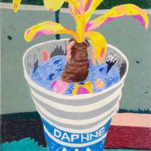 Daphne (2015) | 53 x 41 cm | Pastelkrijt op papier | Dikke Palm (2015) | 70,4 x 53 cm | Pastelkrijt op papier | Gallery Untitled | Gallery Untitled