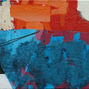 Blue Ship (2011) | 50 x 110 cm | Mixed media | Origineel | Sasja Hagens | Gallery Untitled
