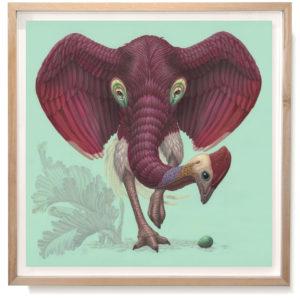 Dromopterix Elephoenicus | Raoul Deleo | Beschikbaar origineel en in gelimiteerde fine art print (c)