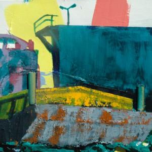 Duwbak (2015) | 65 x 80 cm | Acrylverf, emulsie op canvas | Origineel | Sasja Hagens | Gallery Untitled
