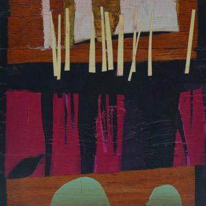 Garden of Hesperides #12 | 29 x 19 cm _ Papier, acrylverf, bladgoud op Paneel | 2016 | Sasja Hagens | Gallery Untitled