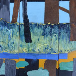 Garden of Hesperides #15 | 26 x 39 cm | Papier, acrylverf, bladgoud op paneel | 2016 | Sasja Hagens | Gallery Untitled