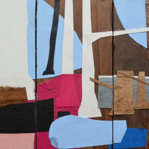Garden of Hesperides #16 | 26 x 39 cm | Papier, acrylverf, bladgoud op paneel | 2016 | Sasja Hagens | Gallery Untitled