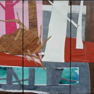 Garden of Hesperides #17 | 26 x 39 cm | Papier, acrylverf, bladgoud op paneel | 2016 | Sasja Hagens | Gallery Untitled