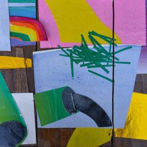 Garden of Hesperides #19 | 26 x 39 cm | Papier, acrylverf, bladgoud op paneel | 2016 | Sasja Hagens | Gallery Untitled