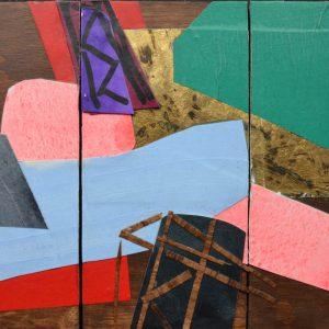 Garden of Hesperides #20 | 26 x 39 cm | Papier, acrylverf, bladgoud op paneel | 2016 | Sasja Hagens | Gallery Untitled