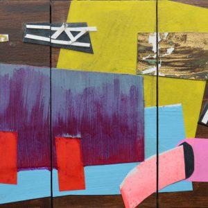 Garden of Hesperides #21 | 26 x 39 cm | Papier, acrylverf, bladgoud op paneel | 2016 | Sasja Hagens | Gallery Untitled