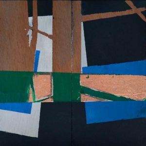 Garden of Hesperides #23 | 26 x 52 cm | Papier, acrylverf, bladgoud op paneel | 2016 | Sasja Hagens | Gallery Untitled