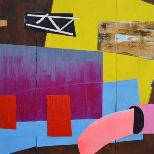 Garden of Hesperides #27 | 90 x 105 cm | Papier, acrylverf, bladgoud op paneel | 2016 | Sasja Hagens | Gallery Untitled