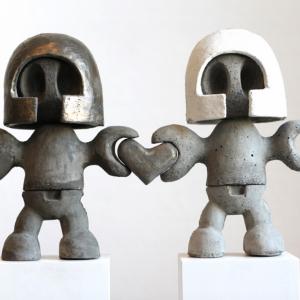 Geschakeld 1 | Hoogte: 30 cm | Beton en alu-cement | Oplage 6 + 2 AE | Sander Buijk | Gallery Untitled