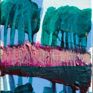 Hesperiden #2 | 30 x 24 cm | Acrylverf, emulsie op Canvas | Origineel | Sasja Hagens | Gallery Untitled
