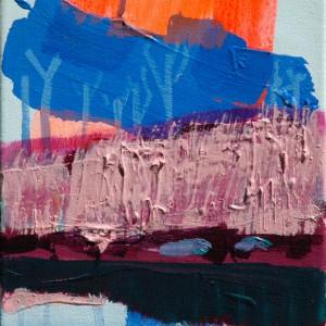 Hesperiden #6 (2015)| 40 x 30 cm | Acrylverf, emulsie op canvas | Origineel | Sasja Hagens | Gallery Untitled