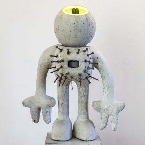 Neon Gris Man | Hoogte: 65 cm | Beton en neon | Oplage: 8 + 2 AE | Sander Buijk | Gallery Untitled