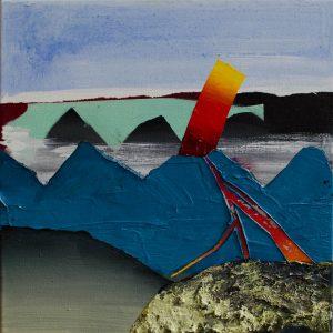 Kalypso #11 | 60 x 60 cm | Acrylverf, zand en emulsie op canvas | Sasja Hagens | Gallery Untitled