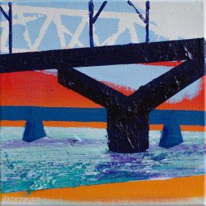 Kalypso #13 | 40 x 40 cm | Acrylverf en emulsie op canvas | Sasja Hagens | Gallery Untitled