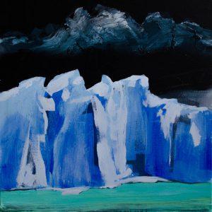 Kalypso #4 | 100 x 100 cm | Acrylverf en emulsie op canvas | Sasja Hagens | Gallery Untitled