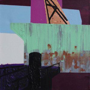 Kalypso #6 | 65 x 65 cm | Acrylverf, zand en emulsie op canvas | Sasja Hagens | Gallery Untitled