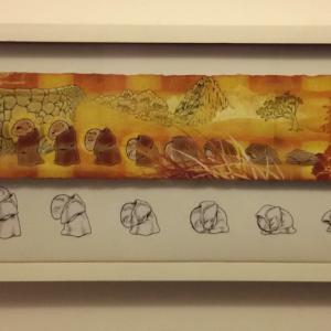 The Moussiah, stadia | Oplage: 25 | 21 x 59 cm | Customized en handgemaakte hoge kwaliteit fine art giclee print op dibind, met passepartout in houten lijst | Raoel Deleo | Gallery Untitled