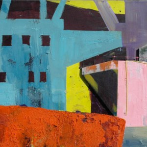 Rotterdam Sunset (2014) | 100 x250 cm | Mixed media | Origineel | Sasja Hagens | Gallery Untitled
