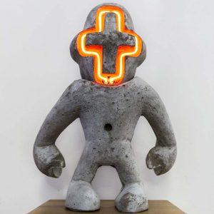 Utilitarian | Hoogte: 46 cm | Neon en beton | Oplage: 8 + 2 AE | Sander Buijk | Gallery Untitled