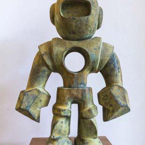 Robot Harold | Brons | Hoogte: 55 cm | Oplage: 8 + 4 AE | Sander Buijk | Gallery Untitled