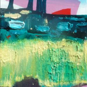Tuin der Hesperiden #1 (2015) | Garden of the Hesperides #1 |100x170cm | Acrylverf, emulsie op canvas | Origineel | Sasja Hagens | Gallery Untitled
