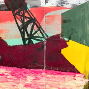 Unbounded | Diptych | 140 x 340 cm | Acrylverf, emulsie op canvas | Origineel | Sasja Hagens | Gallery Untitled
