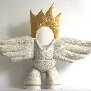 Angelum Meum | Hoogte: 38 cm | Keramiek met bladgoud | Oplage: 8 + 2 AE | Sander Buijk | Gallery Untitled