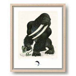 Raoul Deleo | Gorillrus Poseidonides |Oplage: 100 | Giclee print op Hahnemühle papier in houten lijst | 50 x 40 cm | Gallery Untitled