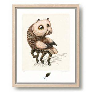 Raoul Deleo | Nictea Unguillata | Oplage: 100 | Giclee print op Hahnemühle papier in houten lijst | 50 x 40 cm | Gallery Untitled