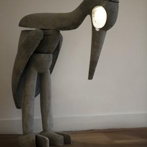 Reiger | Hoogte: 120 cm | 4 delig betonnen beeld met verlichting | Oplage: 6 + 2 AP | Sander Buijk | Gallery Untitled