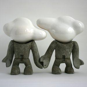 Geschakeld 2 | Sander Buijk | Formaat: 54 x 16 x 38 cm | Gegoten beton met brons | Gallery Untitled