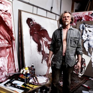 Nelis Oosterwijk in atelier