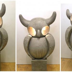 Owl | Hoogte: 75cm | Beton met verlichting | Oplage: 8 + 2 AE | Sander Buijk | Gallery Untitled