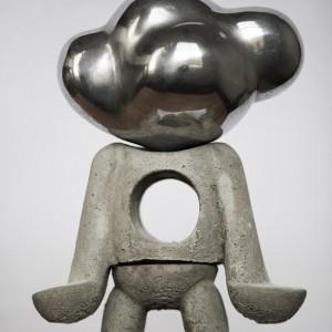 Wattman | Hoogte: 35 cm | Beton & aluminium | Oplage: 8 + 2 AE | Sander Buijk | Gallery Untitled