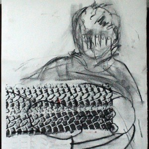 Ongeluk 1955 | Tekening | Nelis Oosterwijk | Galerie Untitled | Beschikbaar