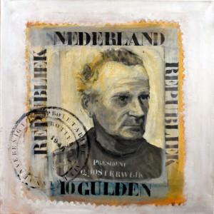 Vader | 100 x 100 cm | Acrylverf | Nelis Oosterwijk | Galerie Untitled