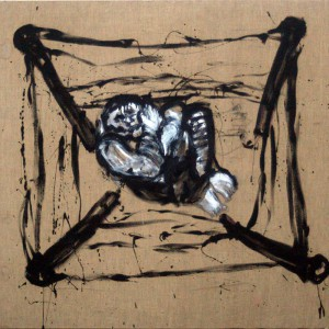 Gevangene | 200 x 180 cm | Acrylverf | Nelis Oosterwijk | Galerie Untitled | Beschikbaar