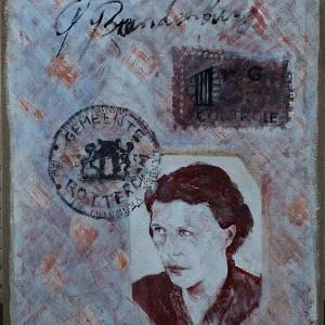 Moeder |100 x 100 cm | Acrylverf | Nelis Oosterwijk | Galerie Untitled