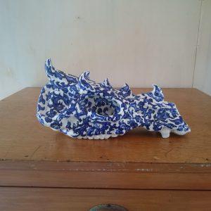 Monsterschedel in blauw en wit | Pepijn van den Nieuwendijk | Gallery Untitled