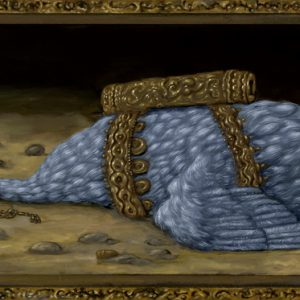 De Boodschapper | Origineel | 54 x 18 cm | Olieverf op paneel (incl. lijst) | Pepijn van den Nieuwendijk | Gallery Untitled
