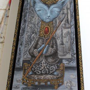 De schilder van landschappen | Origineel | 18 x 54 cm | Olieverf op paneel (incl. lijst) | Pepijn vban den Nieuwendijk | Gallery Untitled