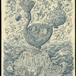 Uit het vogelboek van Jahanghir | 100 x 70 cm | Pepijn van den Nieuwendijk | Gallery Untitled