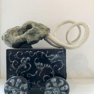 Laatste Mammoet | Origineel | Keramiek, porselein, hout en olieverf | Pepijn van den Nieuwendijk | Gallery Untitled