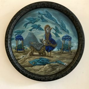 De Redder | Origineel | Diameter 30 cm | Olieverf op paneel (in lijst) | Pepijn van den Nieuwendijk | Gallery Untitled