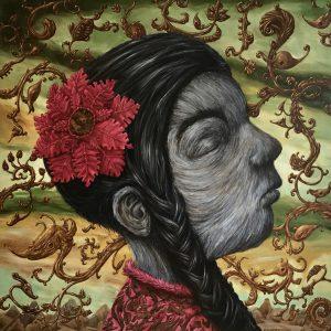 Hairy girl | Origineel | 150 x 150 cm | Olieverf op doek | Pepijn van den Nieuwendijk | Gallery Untitled